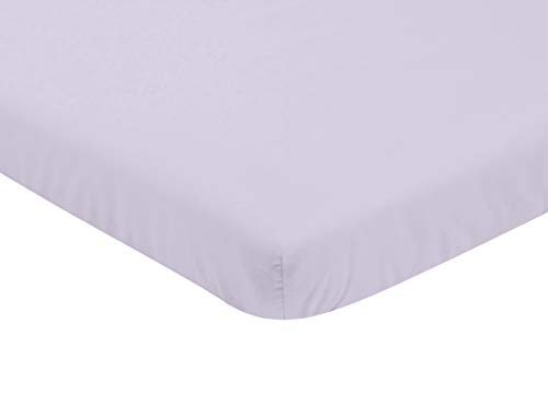 Sweet Jojo Designs Lavender Purple Baby Girl Fitted Mini Portable Crib Sheet for Watercolor Floral Collection - For Mini Crib or Pack and Play ONLY