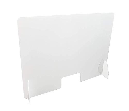 Super robuste Gegenbildschirme , 120 x 80 cm, 5 mm dick, transparent, mit Fenster unten