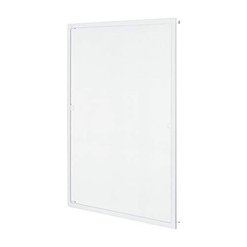 Mosquitera para Ventana con Marco de Aluminio 100 x 120 cm Mosquitera Fija Fibra de Vidrio Protección contra Mosquitos y Moscas Recortable Blanco