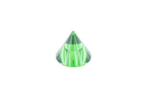 Glaskegel grün ø 35mm Höhe 30mm, mit Sackloch ø 12,3mm