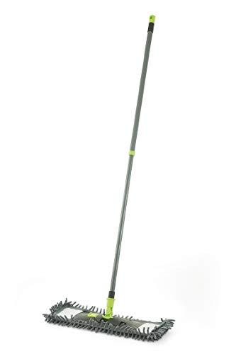 Galileo Casa 2192240 Mop met Chenille Doek Inbegrepen, Metaal/Kunststof, Grijs