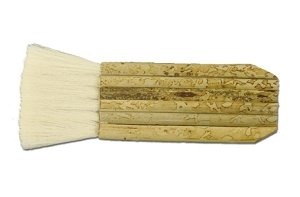 2 Inch Haik Brush for Applying Kiln Wash to Molds and Shelves