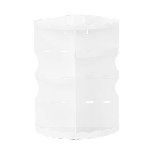 Storage Box Boîte de Rangement cosmétique, Matériau PS Rotatif à 360 ° Présentoir à cosmétiques à partition réglable,Convient pour Les coiffeuses, Les Chambres et Les salles de Bain