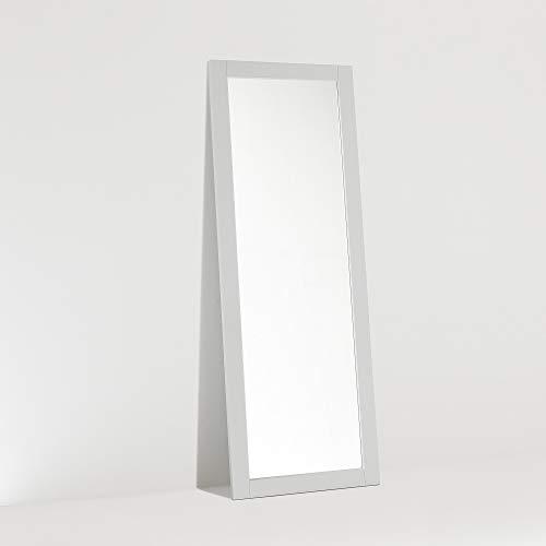ARHome Specchiera da Terra, 160 x 60, Grigio Chiaro, Specchio Parete Muro, Made in Italy