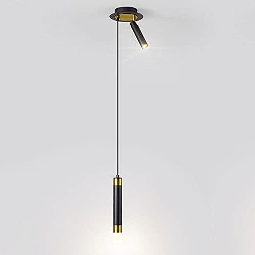 MAOS Proyector LED, Lámpara Colgante de Personalidad Creativa, araña de Aluminio, luz de Techo, Luz Pendiente de Dormitorio, Luminaria de Sala de Estar. (Color : A-with Spotlight)
