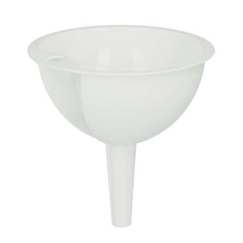 Metaltex Embudo plástico con Diámetro de 10 cm, Blanco