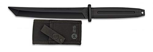 K25-32412 - Cuchillo de Goma para Entrenamiento K25. Negro. - Herramienta para Caza, Pesca, Camping, Outdoor, Supervivencia y Bushcraft