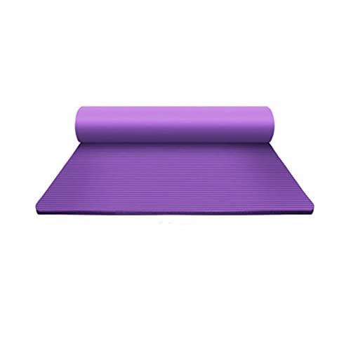 ZZRTEC Esterilla Deporte Antideslizante,TPE Esterilla De Yoga Y Alfombra Fitness, Adecuada para Pilates, Gimnasia Yoga Y AeróBic(183 × 61 × 1,0 Cm)