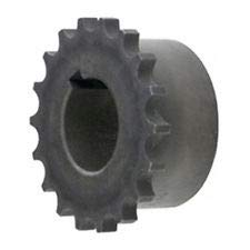 MARTIN SPROCKET & GEAR INC 4016-1 Finished W/Keyway & SS, 2.1875 in BORE, Chain Coupling HUB - 40 Chain, Material: Steel, 16 Teeth, Coupling Sprocket Roller
