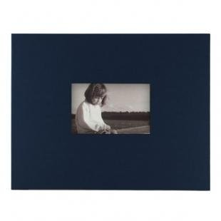 KOLO, Newport Refillable Scrapbook, Navy Cover, White Pages, 11 x 14 inches (100-2021)