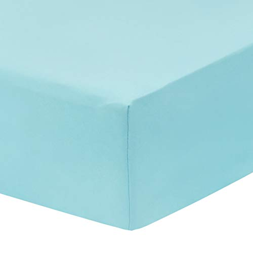 EVERYDAY KIDS 2 Pack Fitted Girls Crib Sheet, 100% Soft Microfiber, Breathable and Hypoallergenic Baby Sheet, Fits Standard Size Crib Mattress 28in x 52in, Nursery Sheet - Mermaid/Aqua