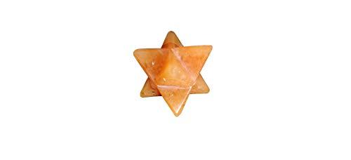 NK CRYSTALS Naranja Calcita Merkaba Star Cristales Naturales Reiki Curación Chakra Equilibrando Piedras de preocupación Piedras caídas Wicca Regalos de Buena Suerte