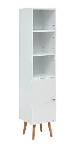 PEGANE Colonne de Rangement pour Salle de Bain Coloris Blanc - 30 x 29.5 x 139 cm