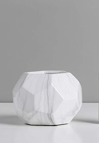 ZKNB Vase Kleine Blumenvase Moderne Moderne Vase Keramikvase Wohnkultur Dekoration-13 * 12,5 * 9 cm Polygon