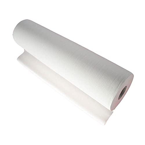 takestop® Rotolo Carta Lenzuolo PRETAGLIATO 80x60 CM per Lettino Massaggio Estetista Medico CELLULOSA 2 VELI MICROCOLLATO
