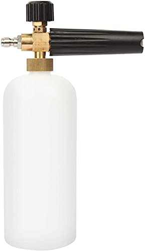 Lavadoras de espuma, Agua de espuma multifuncional Pistola de espuma de nieve Ajustable Snow Lance con botella de 1 litro, Pulverizador de cañón de espuma Lavado de automóviles / Limpieza Pistola Lava