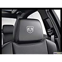 SUPERSTICKI 5X kompatibel für Dodge Widder Logo Kopfstützen Aufkleber für Kopfstütze Sitze Handschufach Lack Tuningsticker Decal Decals geplottet Hochleistungsfolie oder Scheibe Headrest 12cm