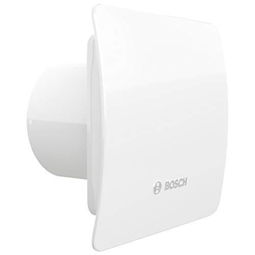 Bosch Badlüfter Fan 1500 W 100 - zur Belüftung in Bad und WC gegen Feuchtigkeit und Schimmel - weiß, 100 mm Durchmesser