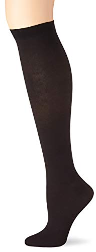 Dr. Scholl's Women's Travel Knee High Socks with Graduated Compression, Black, Shoe Size: 8-10