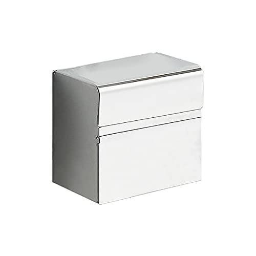 JKGHK Porta Carta Igienica Acciaio Inossidabile Scatola Portaoggetti A Doppio Strato in Rotolo di Carta Igienica con Una capacità di Carico di 1 kg,Argento,Dual Purpose