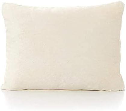 Travel Pillowcase 12X16 500 Thread Count Egyptian Cotton Set of 2 Toddler Pillowcase Envelope Closer Ivory Solid with 100% Egyptian Cotton (Toddler Travel 12x16, Ivory)