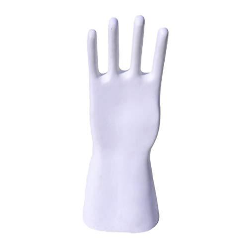 FITYLE Männlich Mannequin Hand Display Stand für Leder Arbeits Handschuhe, Sicherheit Arbeit Handschuhe, Industrie Große Größe Handschuhe Halter - Weiß