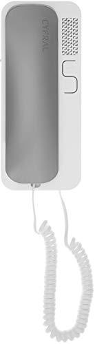 Cyfral 5902768850819 Smart 5p 4 Plus N-Telefonillo Universal (Sistema de Alambre), Gris y Blanco