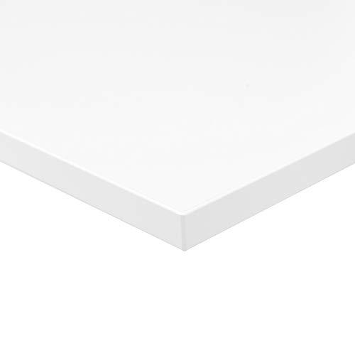 boho office® Tischplatte, Schreibtischplatte 180 x 80 x 2.5 cm in Weiß (RAL9010) mit hoher Kratzfestigkeit und 120 kg Belastbarkeit