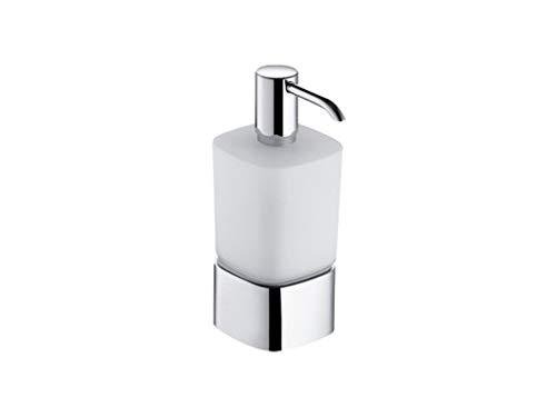 Keuco 11654019001 Lotionspender Elegance, Tischmodell, Opalglas, verchromt