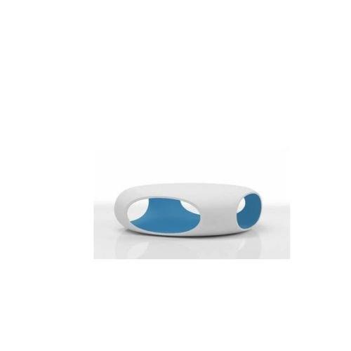 Bonaldo Pebble weiß und hellblau mit Behälter Couchtisch Design TD23