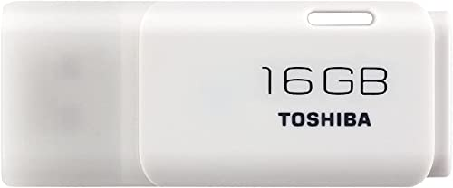 Toshiba Hayabusa Pendrive 16GB, Chiavetta USB 2.0, Bianco