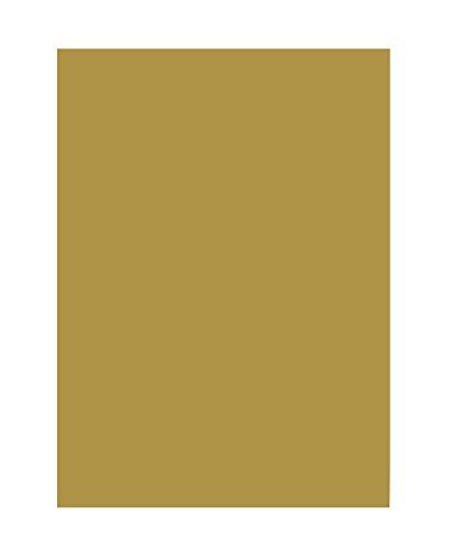 folia 6365 - Tonpapier gold matt, DIN A3, 130 g/qm, 50 Blatt - zum Basteln und kreativen Gestalten von Karten, Fensterbildern und für Scrapbooking