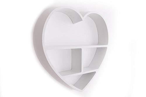 Sifcon International Hanging Plastic Heart Shelf