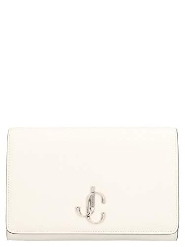 Jimmy Choo Luxury Fashion Damen VARENNECLUTCHCLFLATTE Weiss Leder Pouch | Frühling Sommer 20