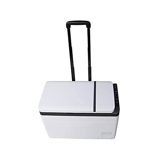 RTOFO Mini refrigerador de coche con carretilla, refrigerador/congelador refrigerador de doble uso, 12 V/24 V mini congelador refrigerador
