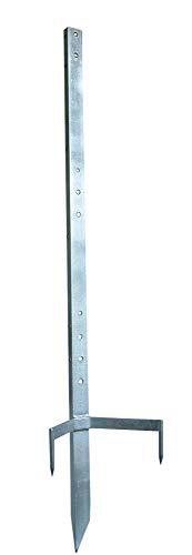 Multi Metallpfahl & Haspelpfahl - 120cm - 90 cm über Grund - Die ideale Lösung für Eck- und Torsysteme bei mobilen Zaunanlagen - Nutzbar für Schafe, Wildschweinabwehr, Haustiere und andere Tierarten
