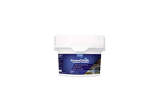 BioSafe Systems GreenClean Granular Algaecide - 20 lbs - String Algae Control for Koi Pond, Fountain, Waterfall, Water Features on Contact. EPA Registered.