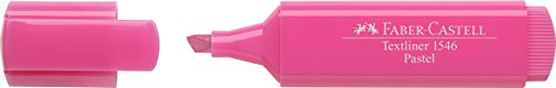 Oferta de Faber-Castell 154654 - Caja con 10 marcadores fluorescentes tonos pastel Textliner 1546, color rosa pastel