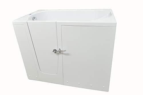 Baño Rubin con puertas, para zurdos,14 cm altura del escalón, asiento de baño para los ancianos y discapacitados