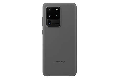 Samsung Silicone Smartphone Cover EF-PG988 für Galaxy S20 Ultra Handy-Hülle, Silikon, Schutz Hülle, stoßfest, dünn & griffig, grau - 6.9 Zoll