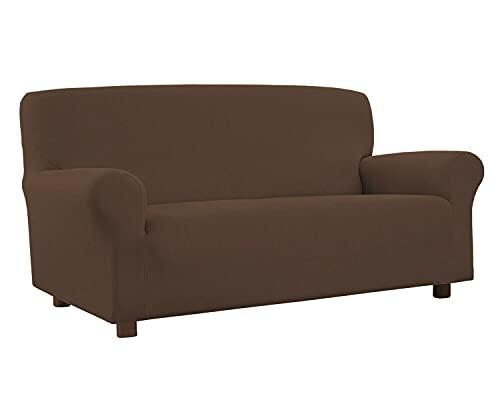Funda elástica antimanchas para sofá, sillón, moderno, 2 plazas, color marrón