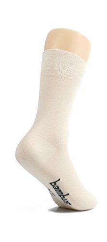 lampox - Bambussocken - 6 Paar - Atmungsaktiv - Reduziert Fußschweiß - Socken (43-46, Beige)