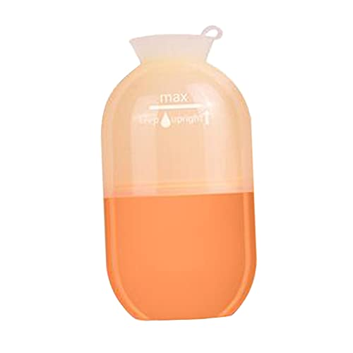 harayaa 1 pieza, pequeña taza de masaje con hielo refrigerante reutilizable, fitness, herramienta de rodillo de masaje frío, terapias frías, congelable, para - naranja