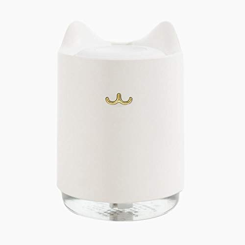Coner Ultrasonic Air Humidifier 320ml USB Aroma Diffuser With Romantic Night Light Hydration for Home Office Car air Purifier,White