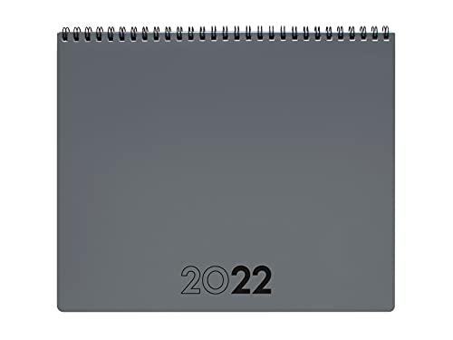 Finocam - Planificador Agenda 2022 Mensual de Enero 2022 a Diciembre 2022 (12 meses) 250x200 mm Notas Gris Internacional