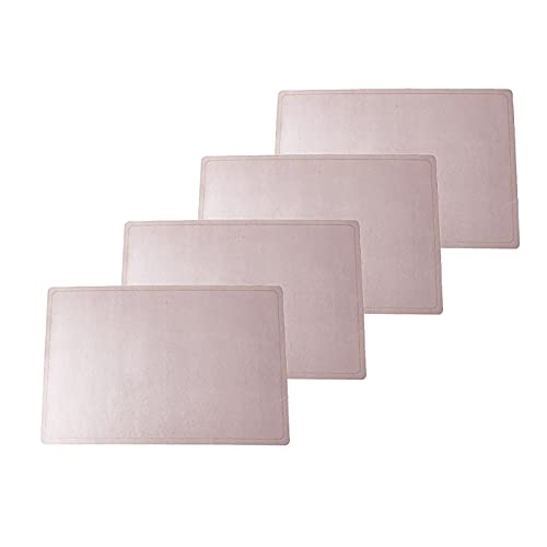 Leather Placemats, PU Table Mats, Set of 4, Waterproof, Stain Resistant, Heat Resistant, Non-Slip Easy to Clean for Kitchen Dining Table,Conference Table
