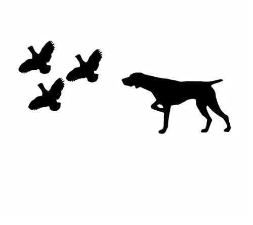 RUI RUI Pegatinas de Coche Pegatina de Vinilo de Perro de Pelo Corto 18,7X8,2 CM