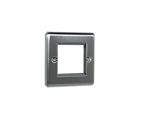 2 Gang Module Frame Satin Enhance Range Grey Trim