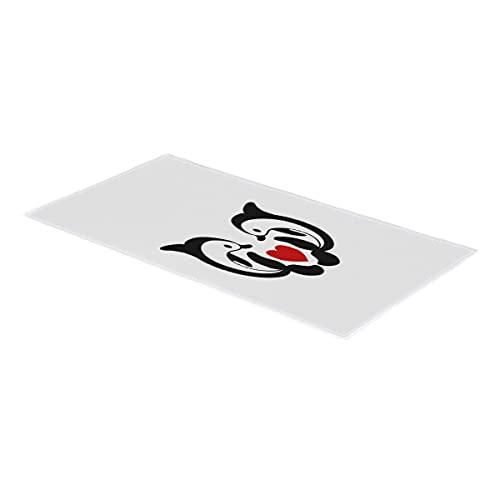 Toalla de mano con forma de corazón de delfín oceánico, toalla de mano, suave, absorbente, para baño, habitación, cocina, hotel, piscina, spa, gimnasio, 38 x 76 cm