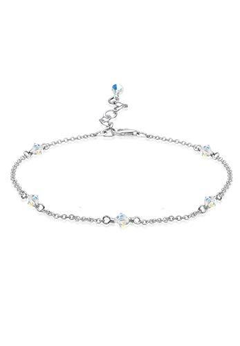 Elli Fußschmuck Damen Klassisch mit Swarovski® Kristalle in 925 Sterling Silber